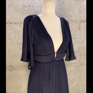 Halston Heritage navy blue gown
